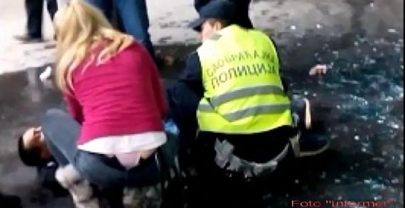 Полицајац убоден ножем!