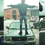 Haris Adilovic na vozilu nacelnika PS Tutin