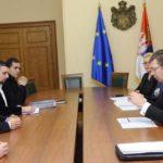 Beograd, 1. decembra 2015 - Premijer Srbije Aleksandar Vucic (2D) primio je danas u Vladi Srbije predstavnike Policijskog sindikata Srbije. FOTO TANJUG / OKSANA TOSKIC / tj