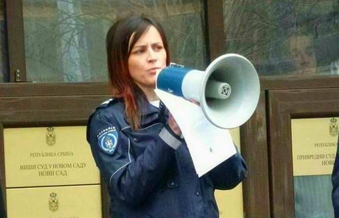 Радио Нови Сад: Ана Томашевић о протесту полиције