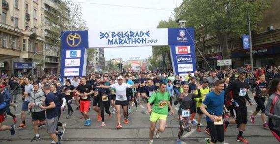 Članovi SSP na 30. Beogradskom maratonu